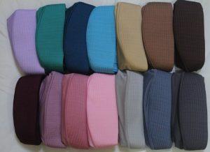 Menumpuk jilbab bergo yang sering di pakai
