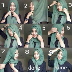 Hijab Pashmina Kusut Pesta Ulang Tahun