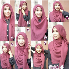 15 Tutorial Hijab Pashmina Katun Simple Dan Elegan Hijabyuk Com