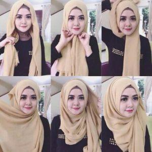 Hijab Pashmina Katun Elegan
