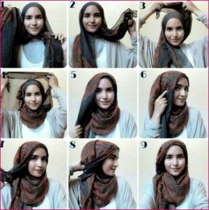 Hijab kerja simple Pashmina