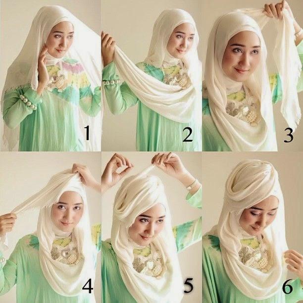7 Tutorial Hijab Pashmina Wajah Bulat Simple Hijabyuk Com