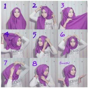 Hijab Pashmina Kaos OOTD Kekinian