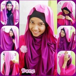 Hijab Pashmina Kaos Anggun untuk Pesta