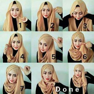 Hijab Pashmina Sifon untuk Acara Pesta