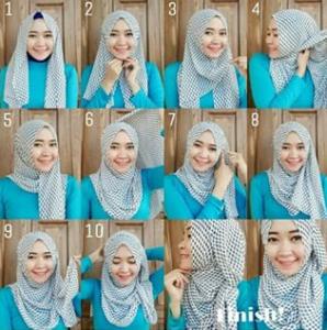 Hijab Pashmina Rawis Motif