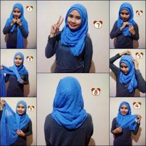 Hijab Pashmina Rawis Simple Mudah