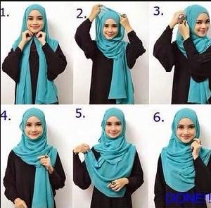 Hijab Menutup Dada Cantik Simpel