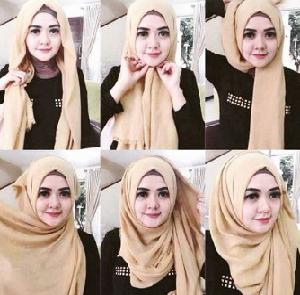 Hijab Pashmina Rawis Kekinian