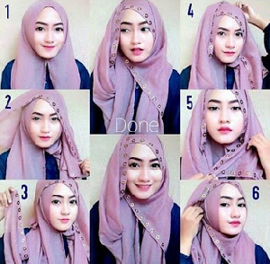 Hijab Pesta Pashiman Simple Glamour