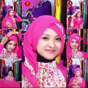 Hijab Pesta Segi Empat Anggun