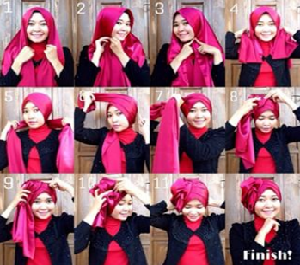 Hijab Pesta Pashmina Turban Unik