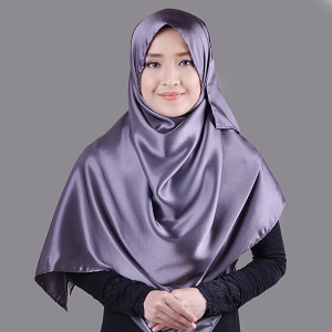 Jilbab Syar'i Pashmina Satin Simple
