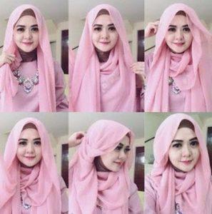Hijab Pashmina Sifon untuk Wajah Bulat