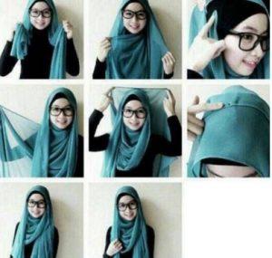 Variasi Hijab Panjang Menjuntai