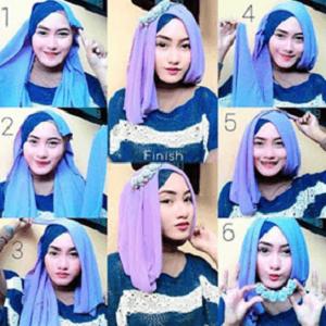 Hijab Paris Dua warna Simple Cantik dan Elegan
