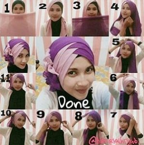 Hijab Paris Dua Warna Simple Modis