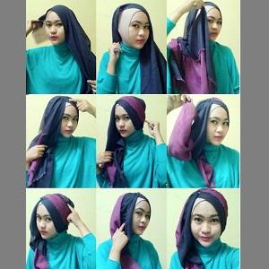 Hijab Dua Warna Simple dan Mudah