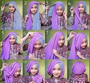 Hijab Dua Warna Simple Elegan