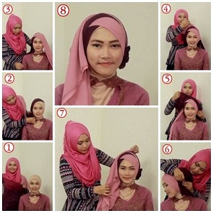Hijab Dua Warna Wisuda Anggun