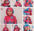 15 Tutorial Hijab Segi Empat Dua Warna untuk Pesta Terbaru