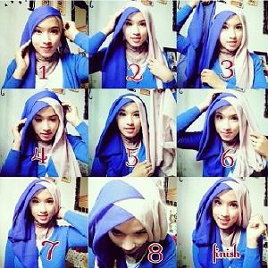 Hijab Segi Empat Paris Dua Warna Formal