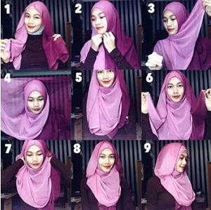 Hijab Segi Empat Paris Dua Warna Casual