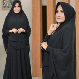 Jilbab Syar'i Instan Double Ceruti Hitam