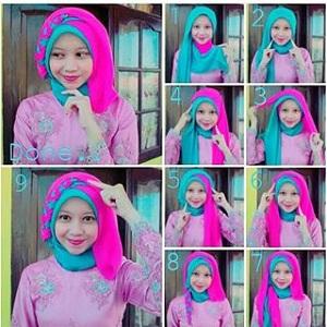 Hijab Dua Warna Modis untuk Acara Pesta