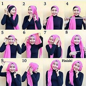 Hijab Segitiga Polos Turban Simple Glamour