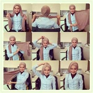 Hijab Turban Segitiga polos Simple