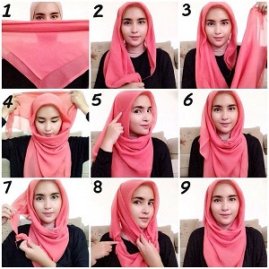 Hijab Segitiga Paris Polos Simple Casual