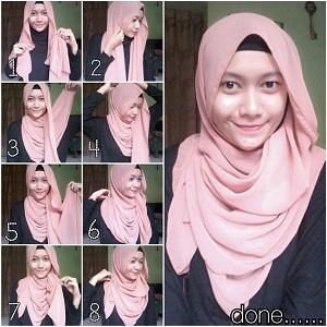 Hijab Pashmina Polos Simple Elegan
