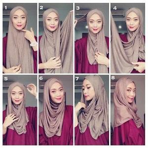 Hijab Pashmina Kaos Polos untuk Sehari-hari
