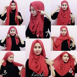 Hijab Pashmina Sifon Anggun Menutup Dada