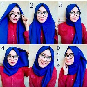 Hijab Pashmina Polos Simple Mudah