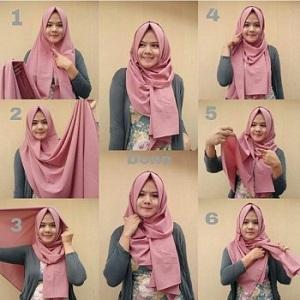 Hijab Pashmina Katun Simple Modern