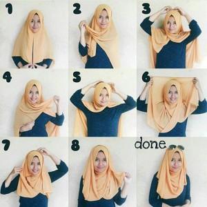 Hijab Segi Empat Polos Simple Kekinian