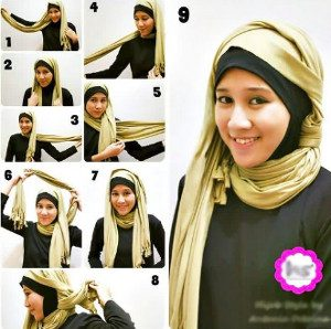 tutorial hijab casual 8