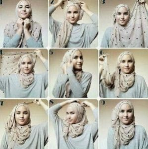 tutorial hijab casual 4
