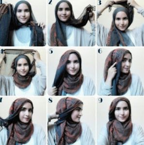 tutorial hijab casual 3