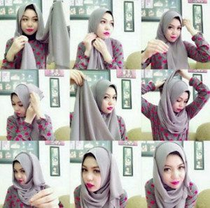 tutorial hijab casual 2