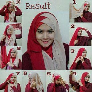 tutorial hijab akad nikah 11