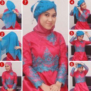 tutorial hijab akad nikah 10