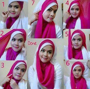 tutorial hijab akad nikah 9