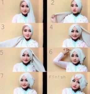 tutorial hijab akad nikah 7