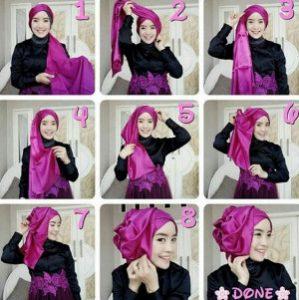 tutorial hijab akad nikah 6