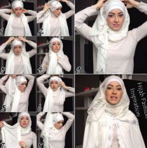 tutorial hijab akad nikah 5