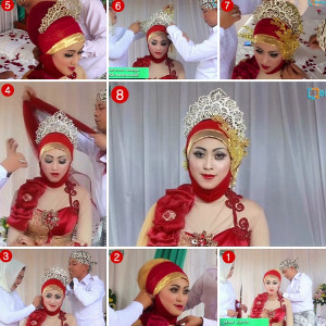 tutorial hijab akad nikah 4