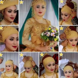 tutorial hijab akad nikah 3